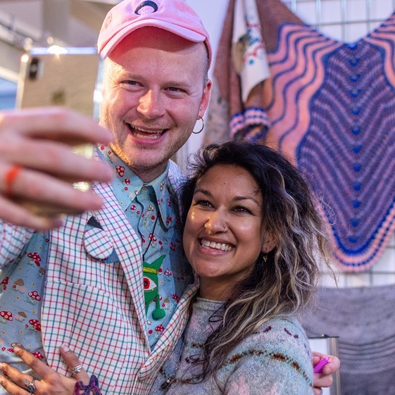 Thank you @westknits for all your many smiles! 😘👏😁#edinyarnfest2019 {Link to more photos in profile} 📷 @jenireid