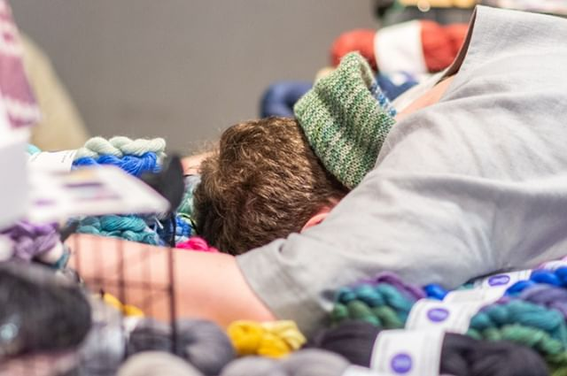 We reckon this photo by @jenireid sums up EYF pretty well: just gimme the yarn!! Our photo gallery is up, link in profile — enjoy reliving the memories! You can download any photos for personal (not commercial) use and for sharing on social media, tag #edinyarnfest2019 and credit @jenireid if you do. Enjoy!