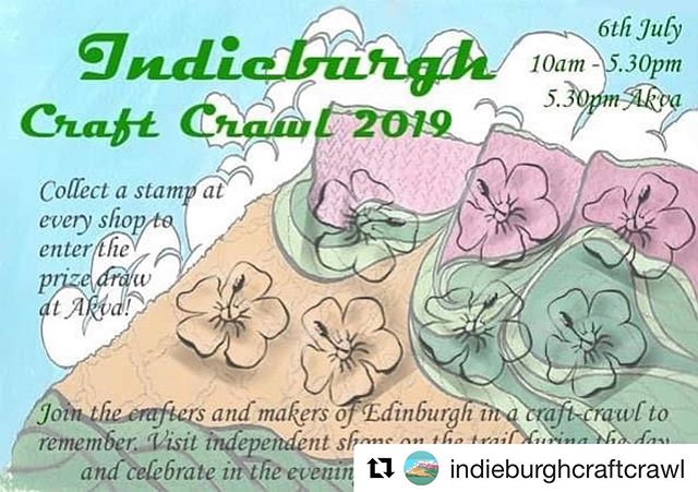 Local folks: Mark your diaries and come out to play and to support our local crafty shops!  @gingertwiststudio  @beinspiredfibres  @kathysknits  @mybearpaw  @beadsgallerystore  @pinsandneedlesedinburgh  @fabricfocus  Also, great after-party @akvaedinburgh ❤️❤️❤️❤️❤️ #Repost @indieburghcraftcrawl with @get_repost ・・・ Well this years passports have all been delivered- you can collect them anytime and be organised and plan your route 🤔😊 see you 6th July !!! #indieburghcraftcrawl #edinburgh #pinsandneedles #independent #craft #crawl