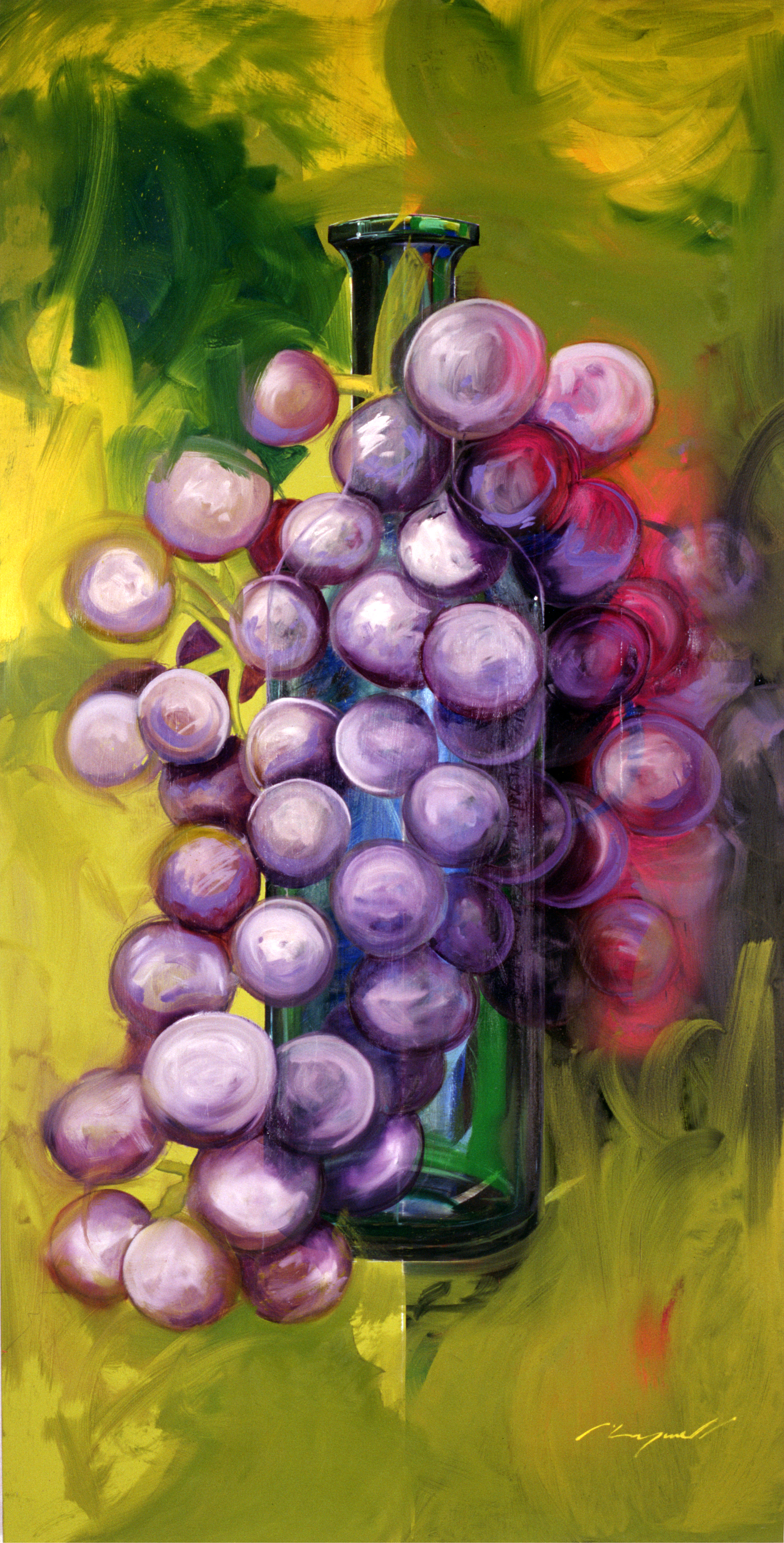 Wine painting is for sale..... currently located in CA. but is big 4' x 8' if you like the original please let me know around 5K