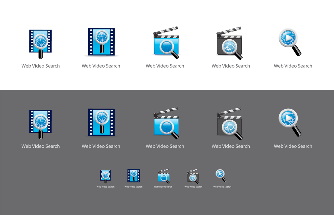 Sample of variations that I present to my clients for one logo/symbol