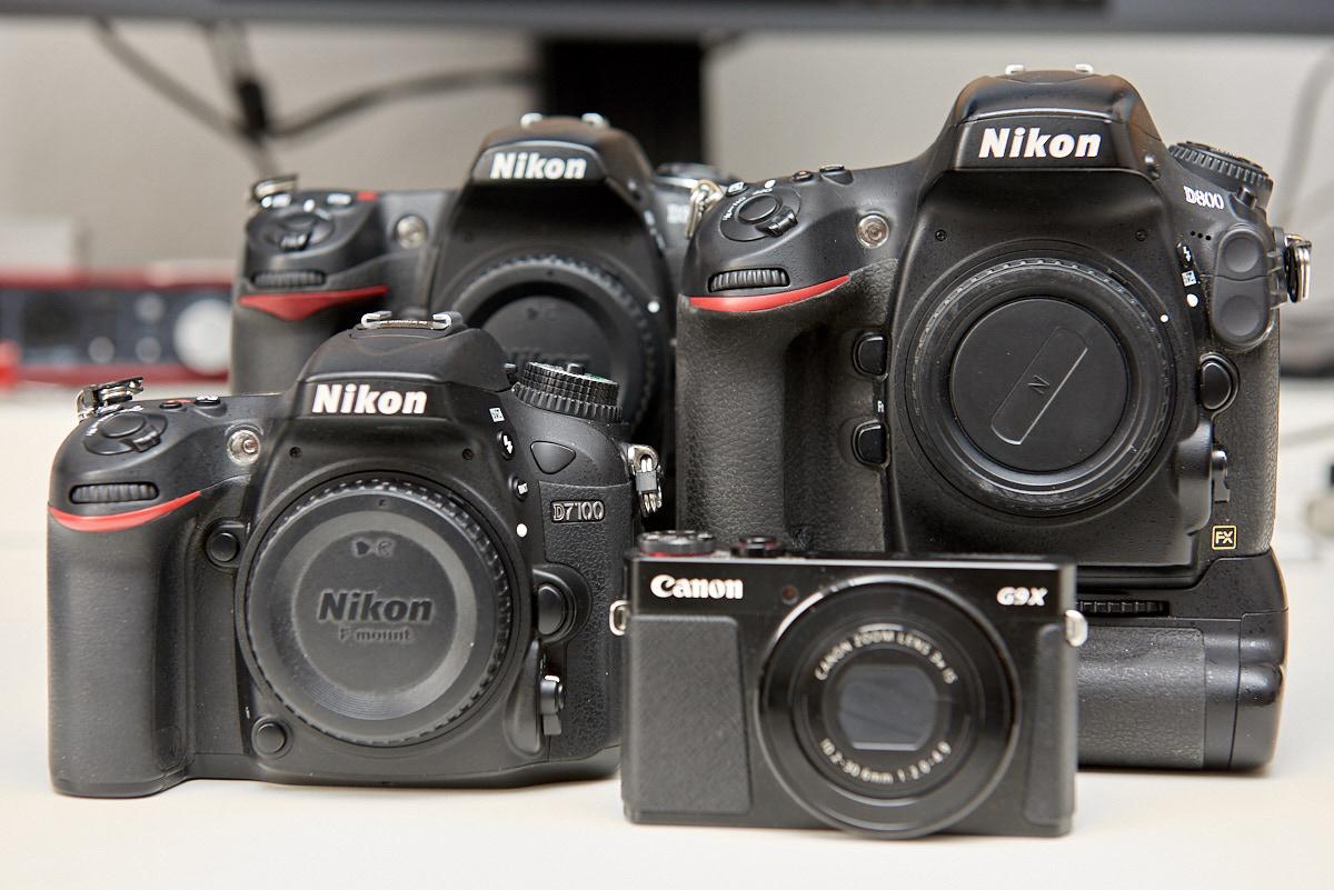 Vom Vollformat bis zur Kompaktkamera - Eine kleine Auswahl guter Fotokameras vom Hochzeitsfotograf.
