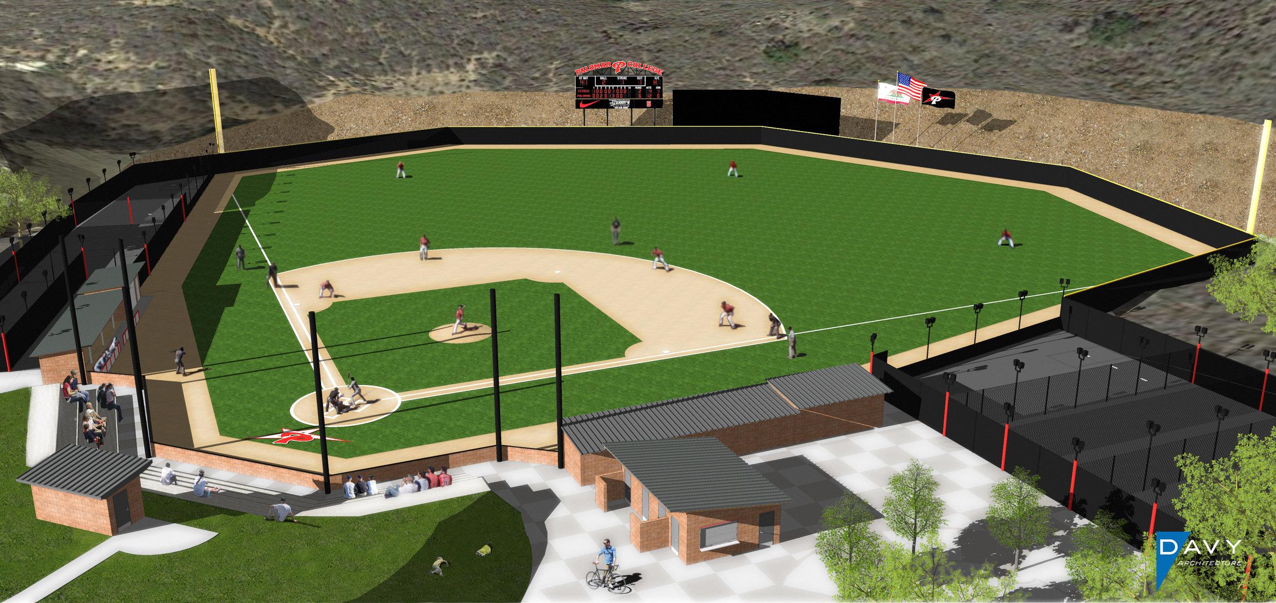 Baseball Field Rendering