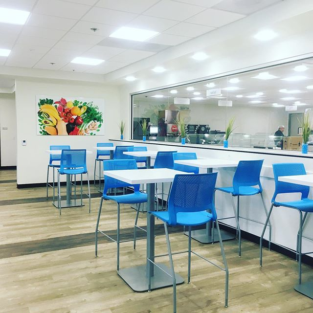 Took a sneak peek of the new Colors Cafe at Scripps Campus Point. DAVY converted office space on the first floor into a commercial kitchen, back of house support, servery area and indoor / outdoor dining.  The space is colorful and inviting - looks like a great place to grab a bite! We're excited to introduce it to the team at Scripps Health.  #renovation #design #teamdavy