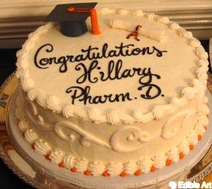 Hand-made edible grad cap and diploma