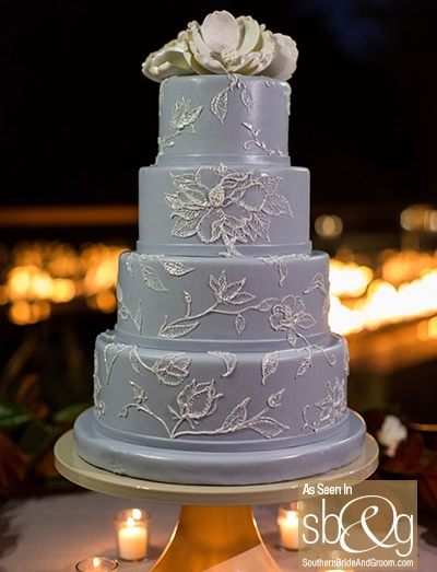 Edible Art Wedgewood Blue Wedding Cake