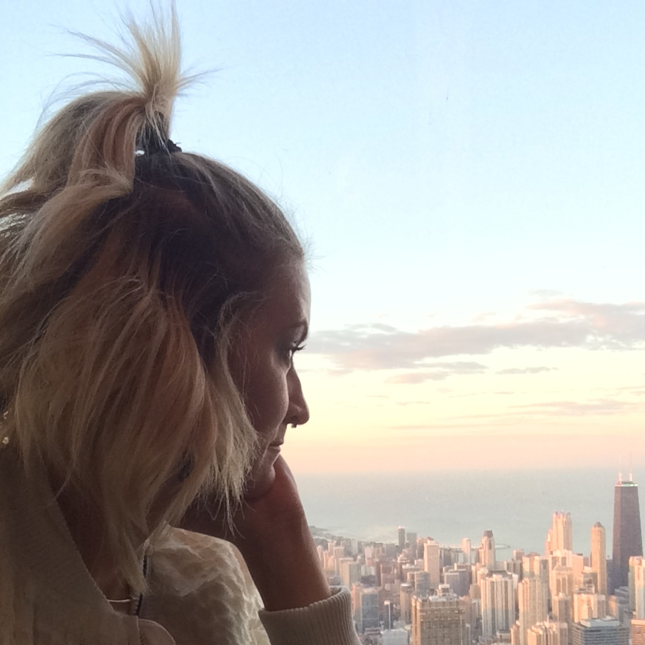 Credits: Photo - Anonymous, Styling - Sarah G. Schmidt, Location - Willis Tower, Chicago, IL