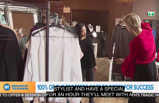 TV Segment - Promotion for Snap!: A Transformational Night of Music and Fashion leading up to International Women's Day. Proceeds benefit Dress For Success Calgary.