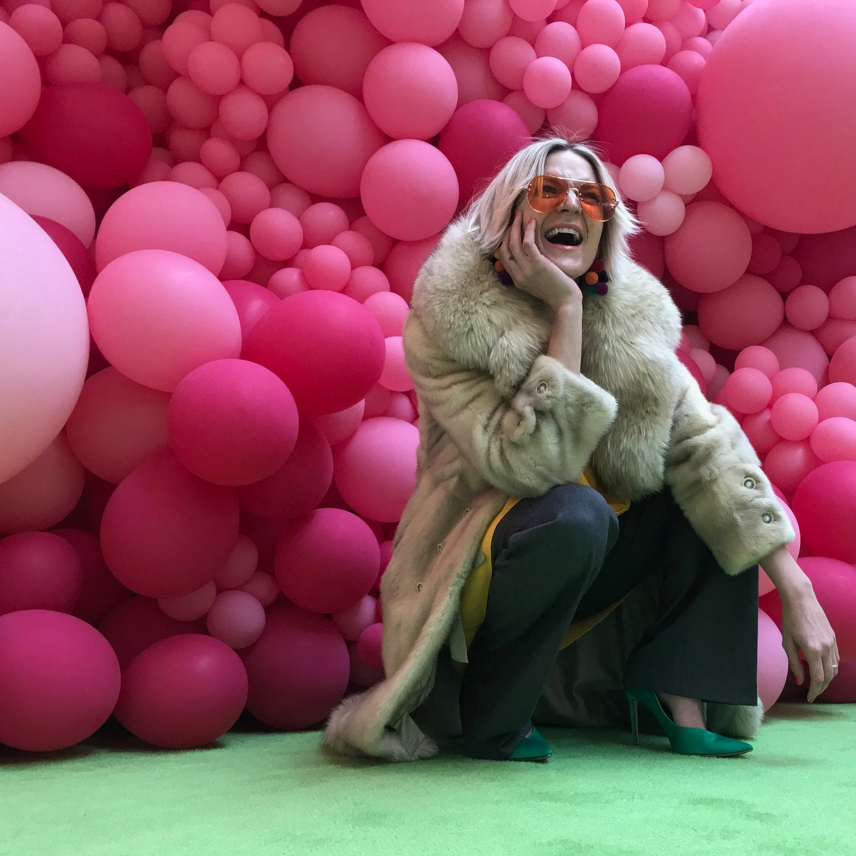 Credits: Photo - Anonymous, Styling - Sarah G. Schmidt, Location - #CHROMAYYC, Artist - Giant Balloon Fix and Art Installation by  #mariagalura  aka DINA  #calgaryparty50
