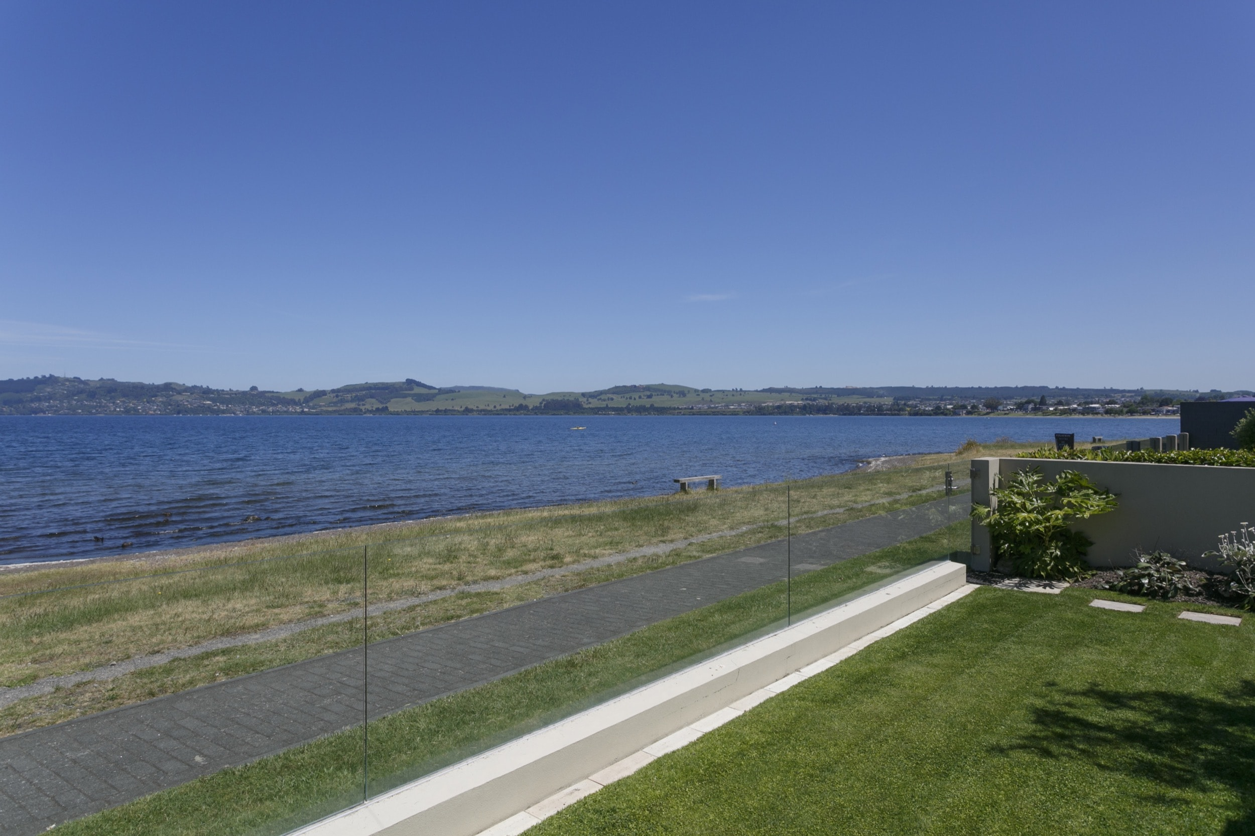 Ground floor two bedroom apartment view of Lake Taupo towards town.jpg