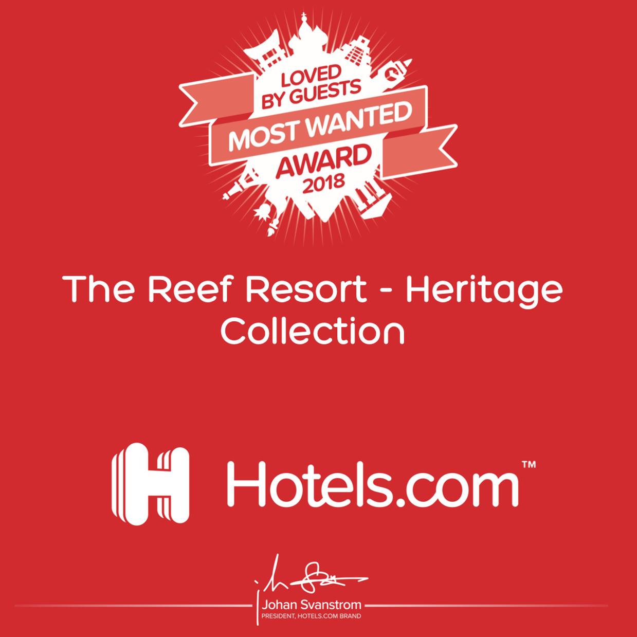 hotels.com most wanted award