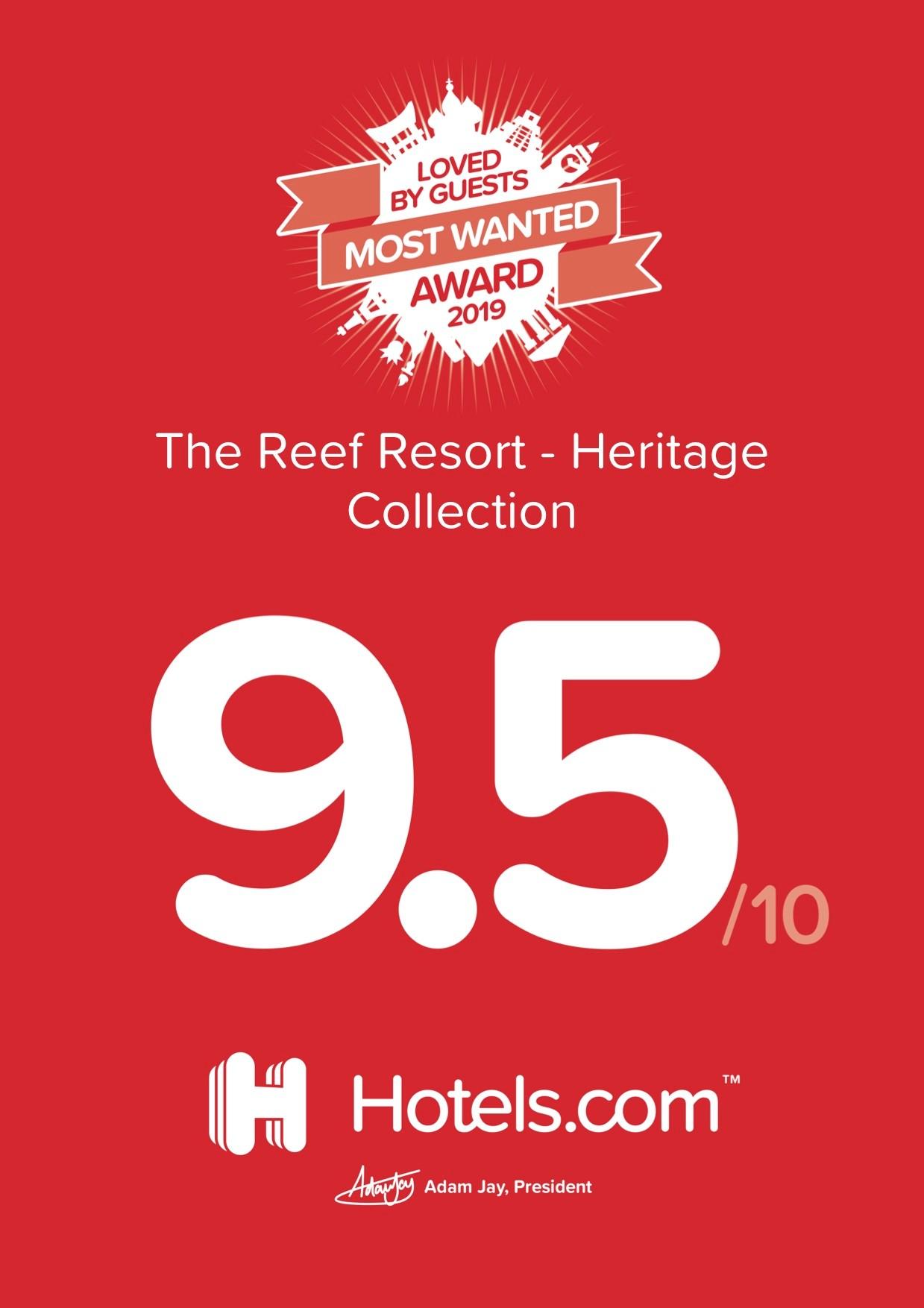 hotels.com most wanted award 2019