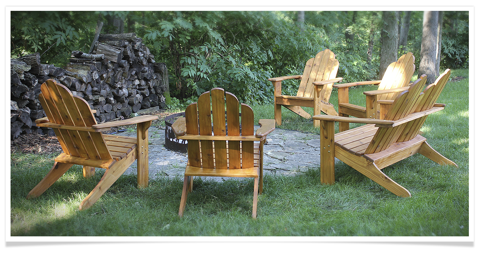 One of many, and I mean many, fire pits outfitted with Saegerville Cedar in the Twin Cities. This one is right down the road in Eagan, MN.