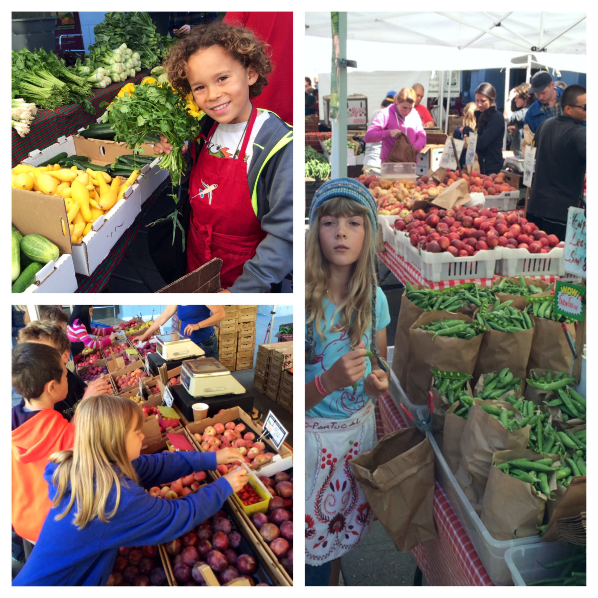 Campers in the farmers market!