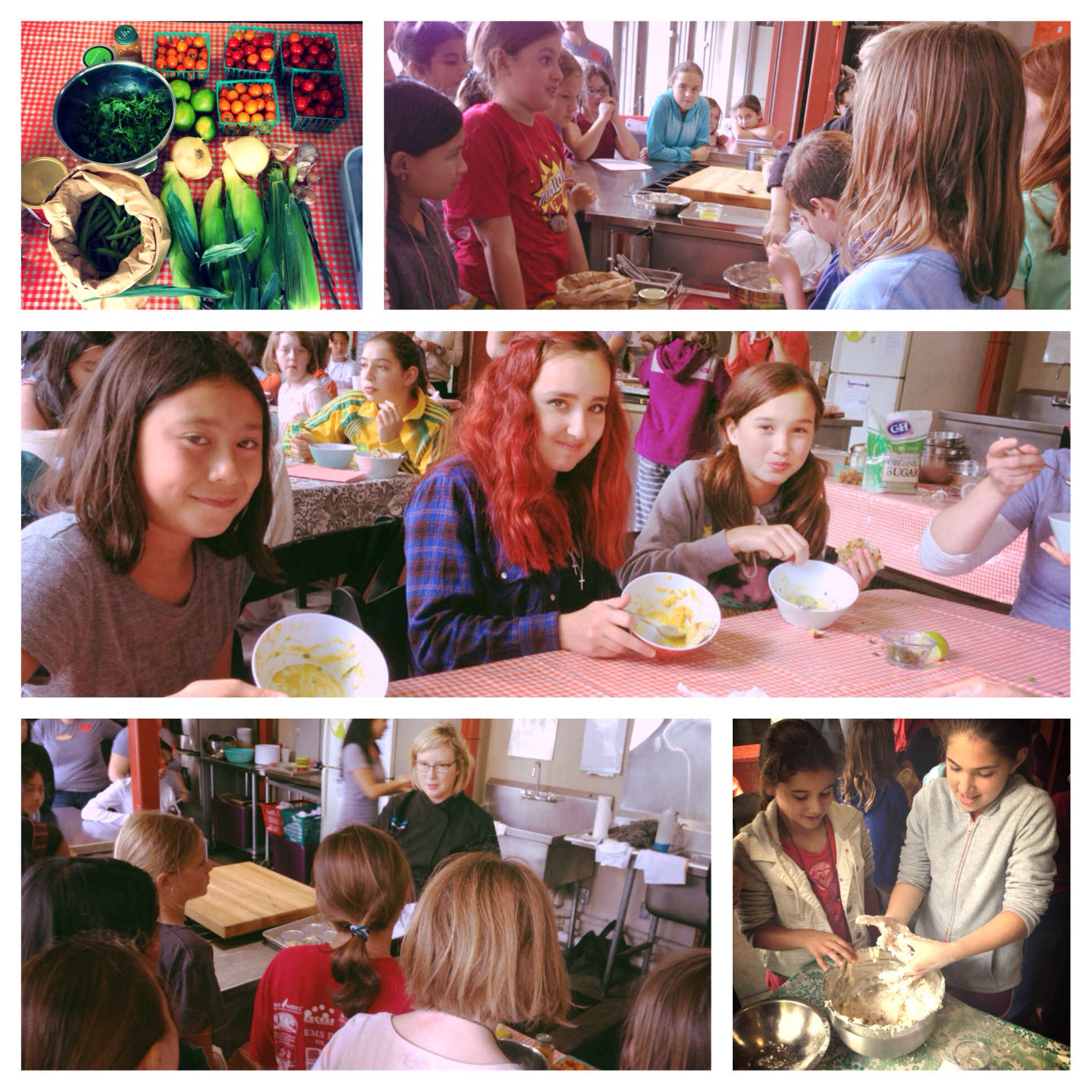 Chef Hollie had a rapt audience as she talked about curries and the campers got their hands dirty before scraping their bowls clean!