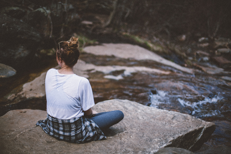 Me.  High Falls at Graveyard Fields, NC.  Photo by:  Mikaela Hamilton.