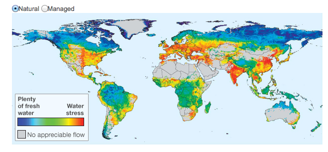 Location of Water Resources on Earth