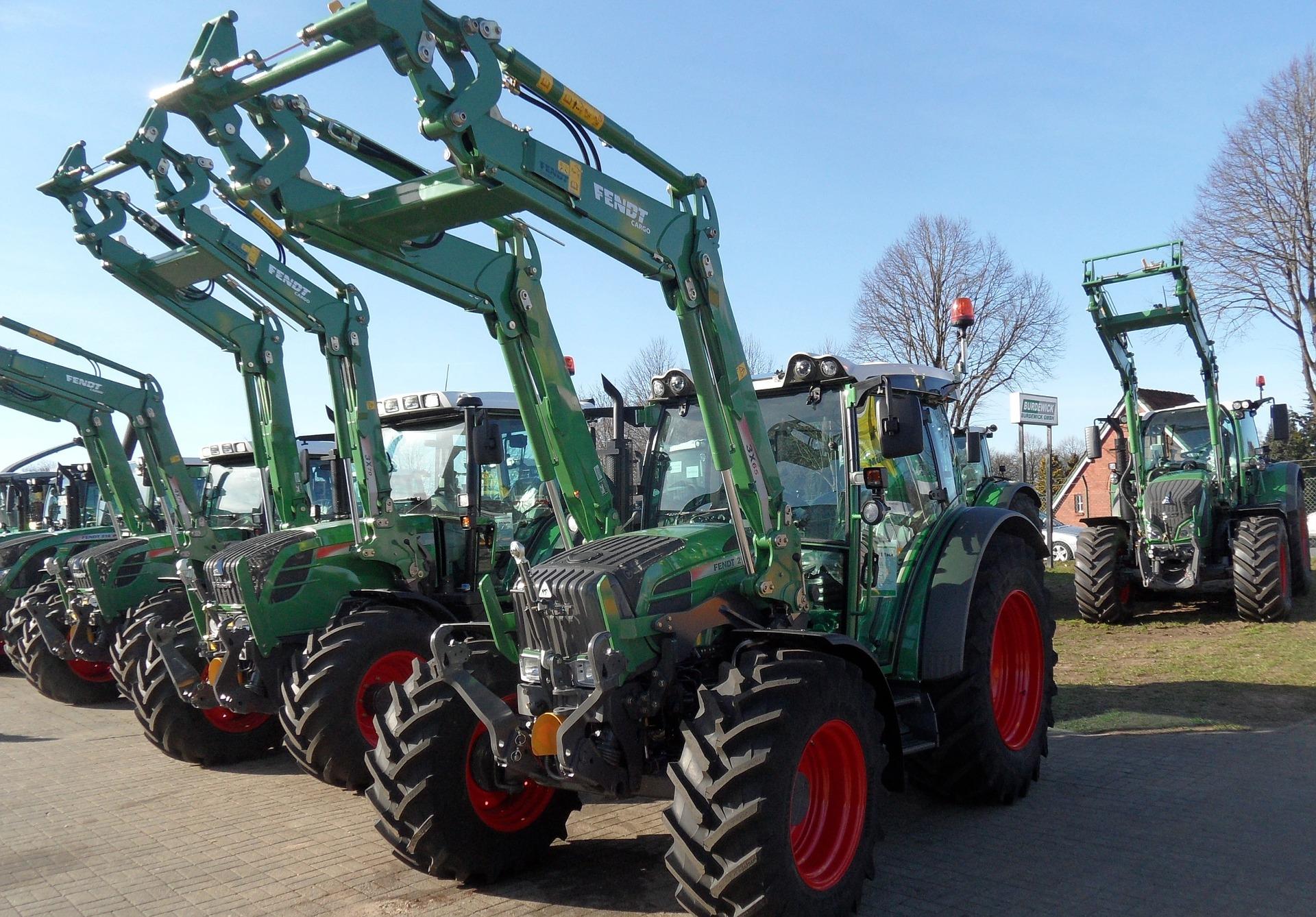 Farm equipment lot