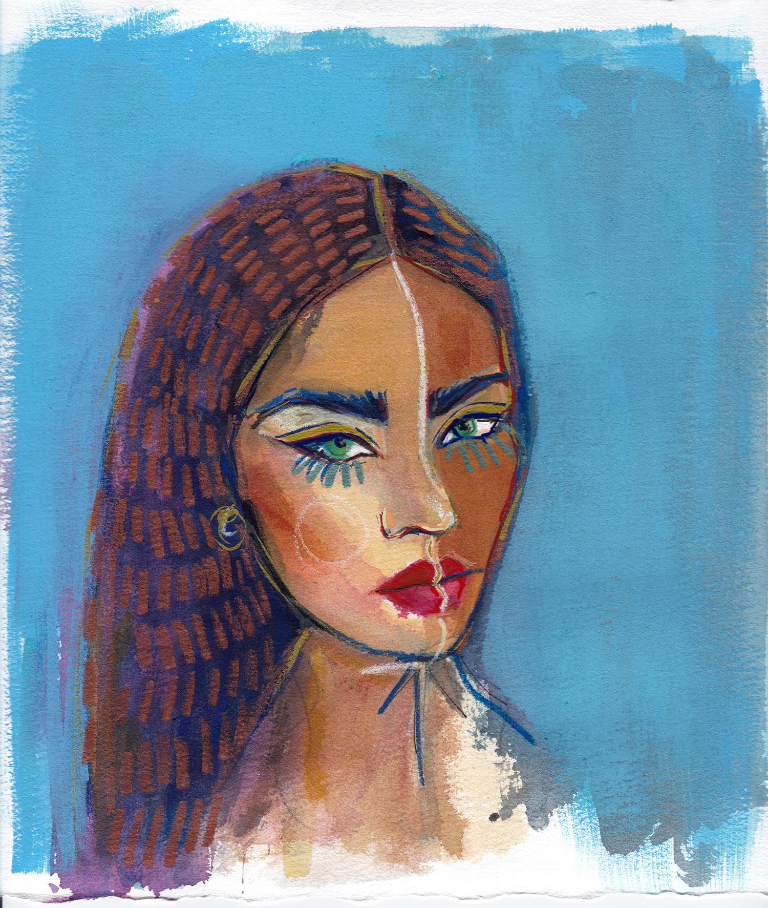 Maryam Gaber-Portrait-Watercolor-Queen-2016 1-1500.jpg