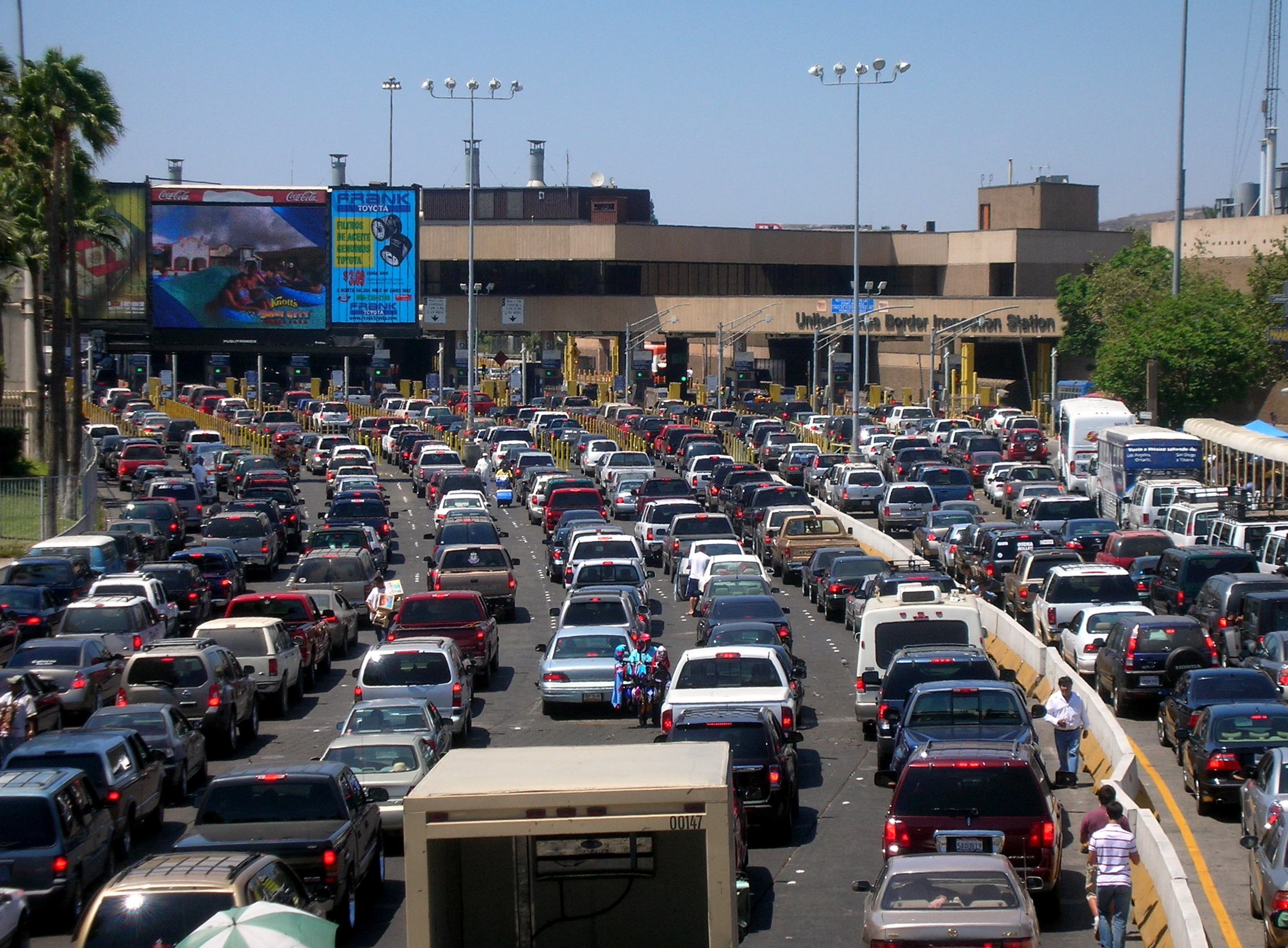 San Ysidro Border Crossing (via Wikipedia)