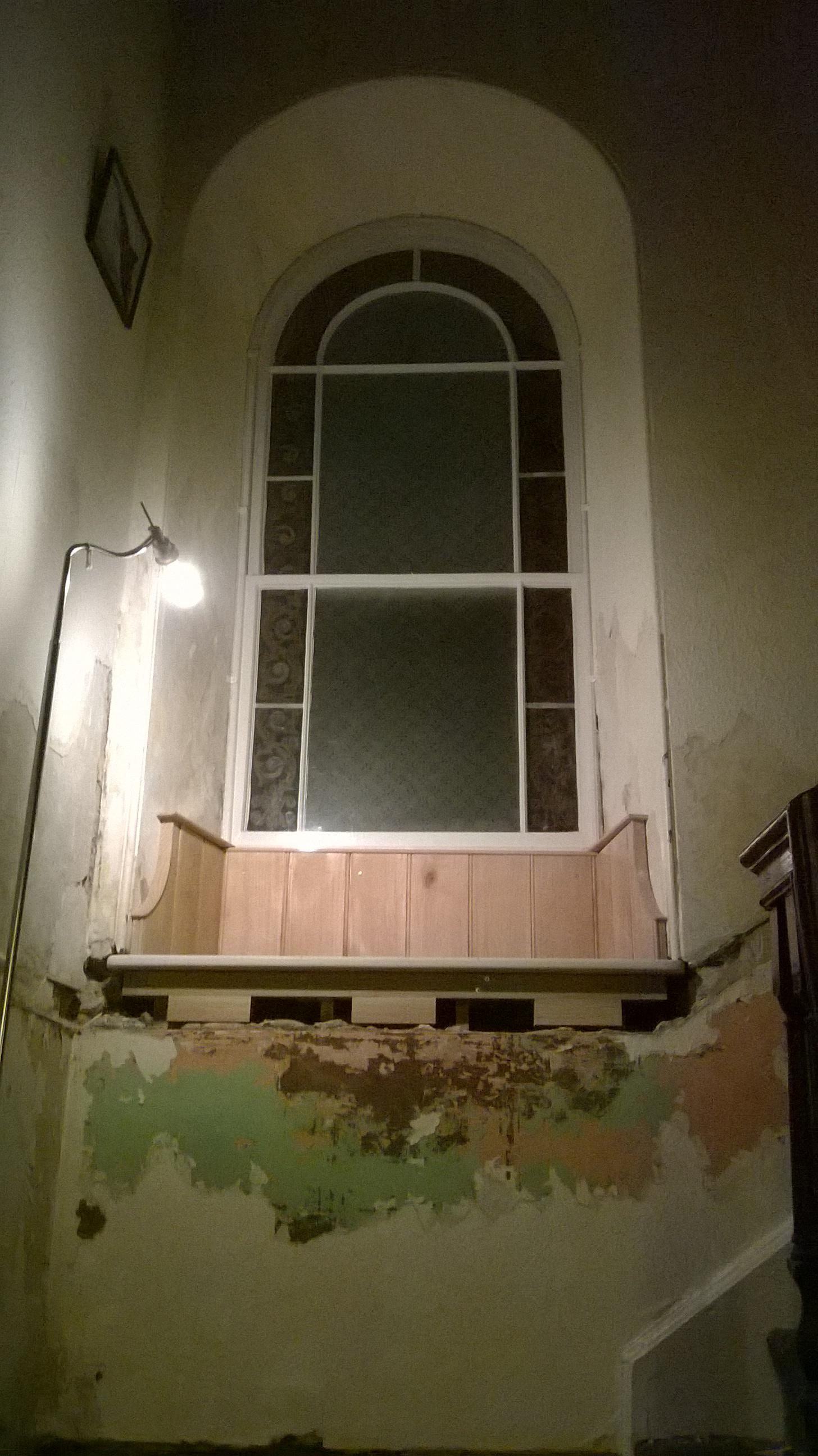 The finished windowsill & surround