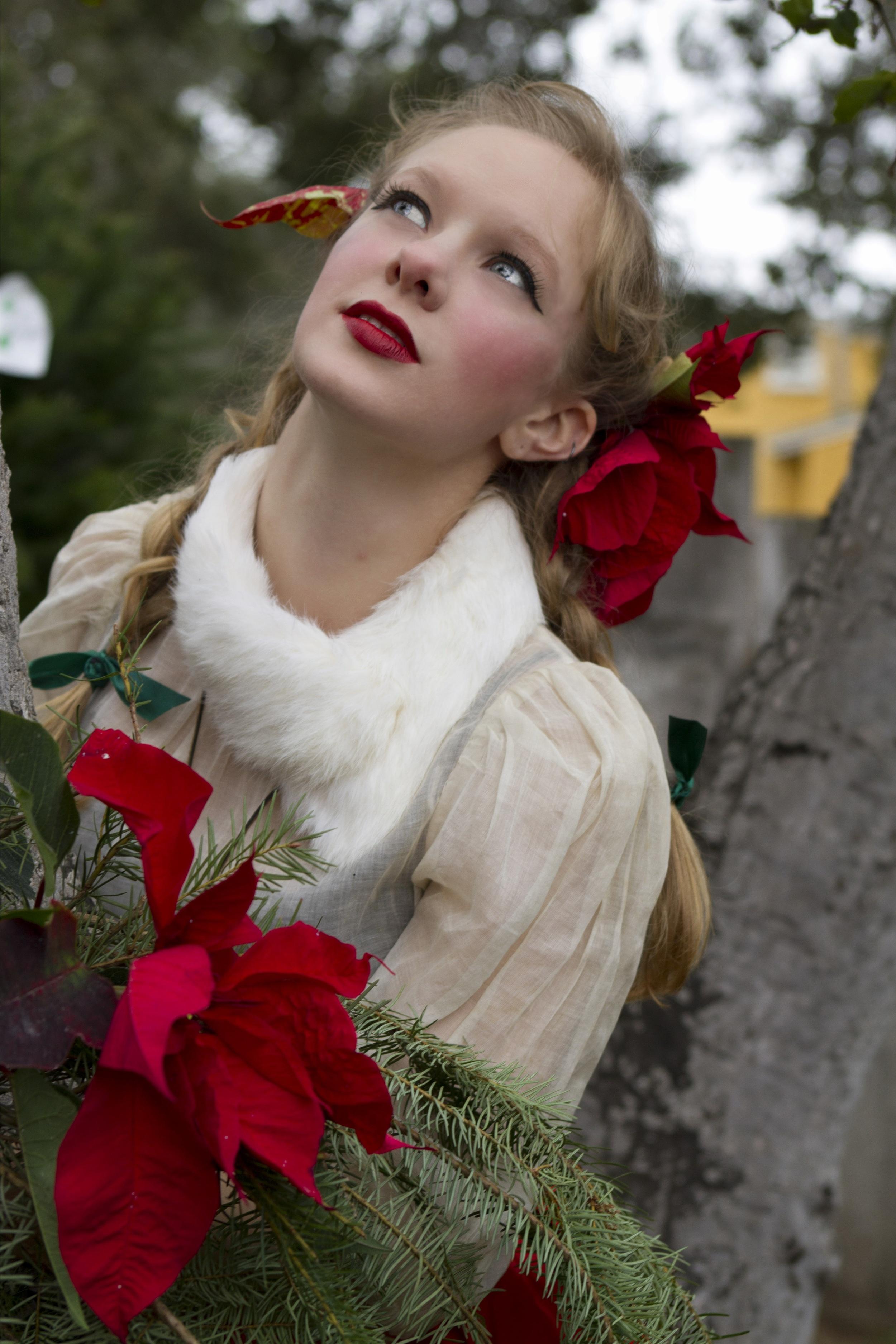 Poinsettia girl