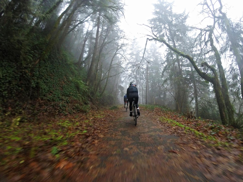 Bike path as we left Portland.