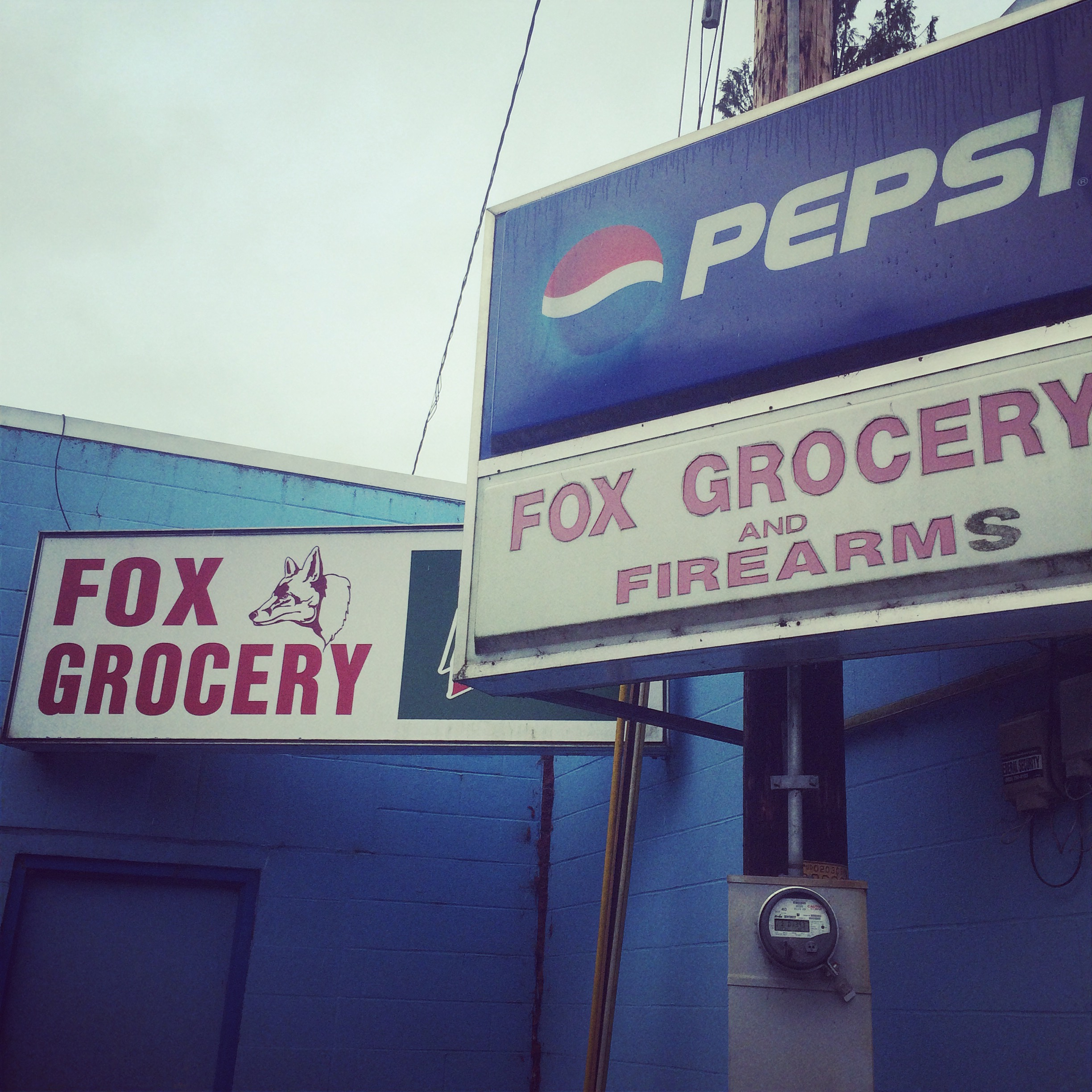 Nothing is more inviting than a grocery/firearm store in the middle of nowhere! ;)
