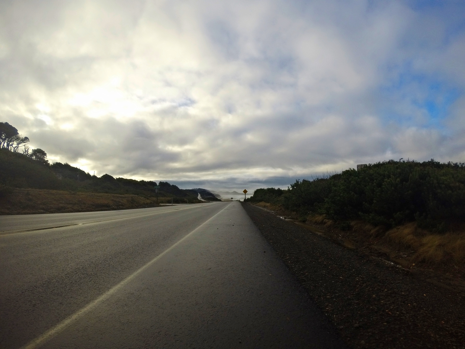 The road into Yachats!