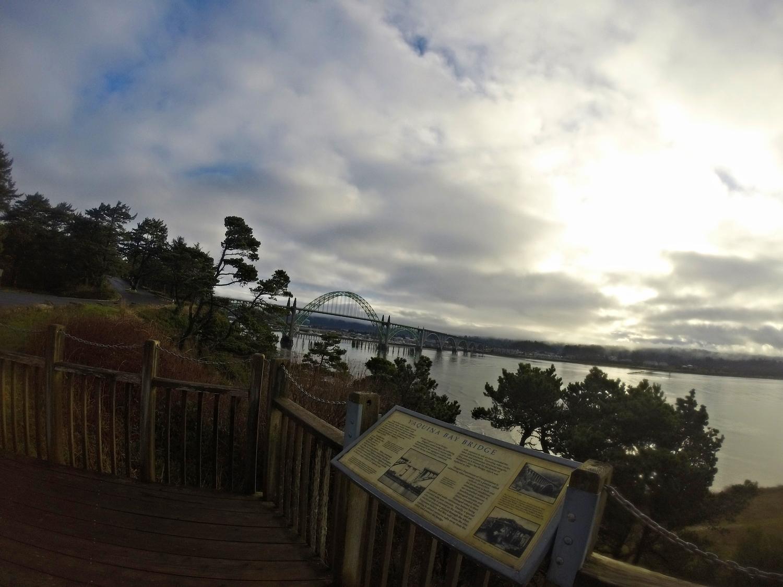 Yaquina Bridge in Newport Oregon.