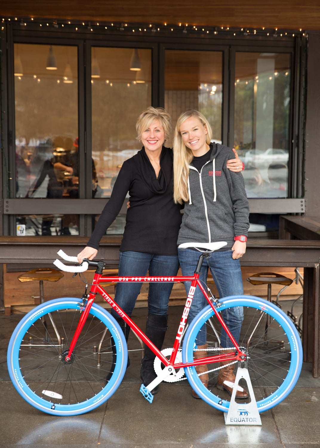 Tayler with Equator Coffee & Teas co-owner Helen Russell.