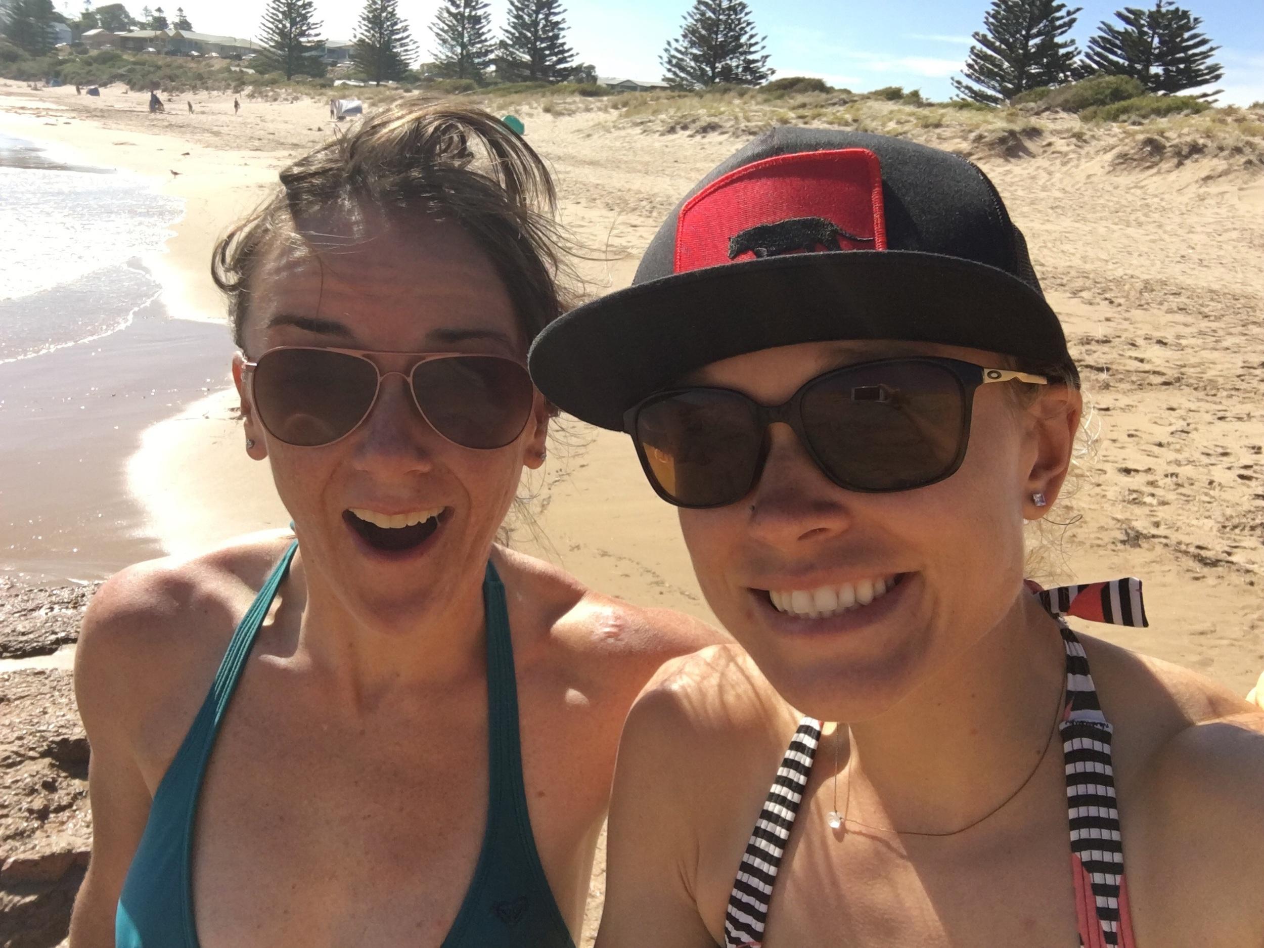 Post TDU beach day!