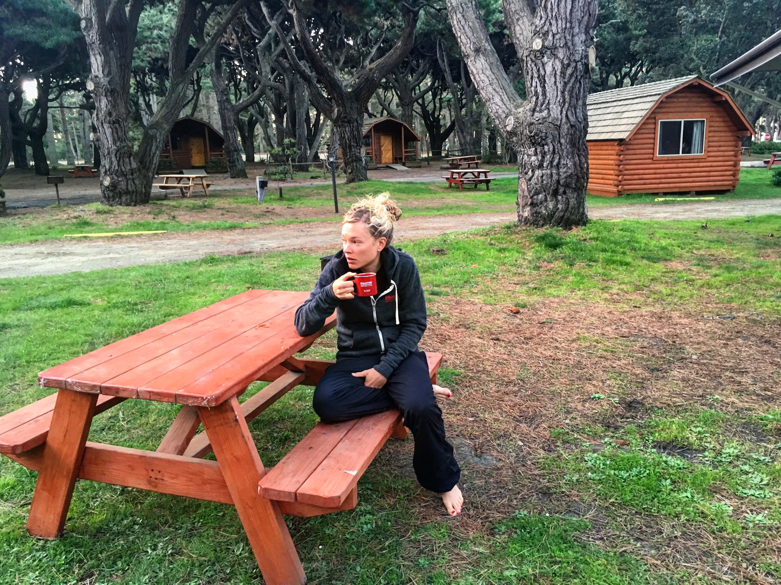 Waking up with some Equator Coffee  Tayler Wiles Blend ! Loved this campsite! KOAs are the way to go!