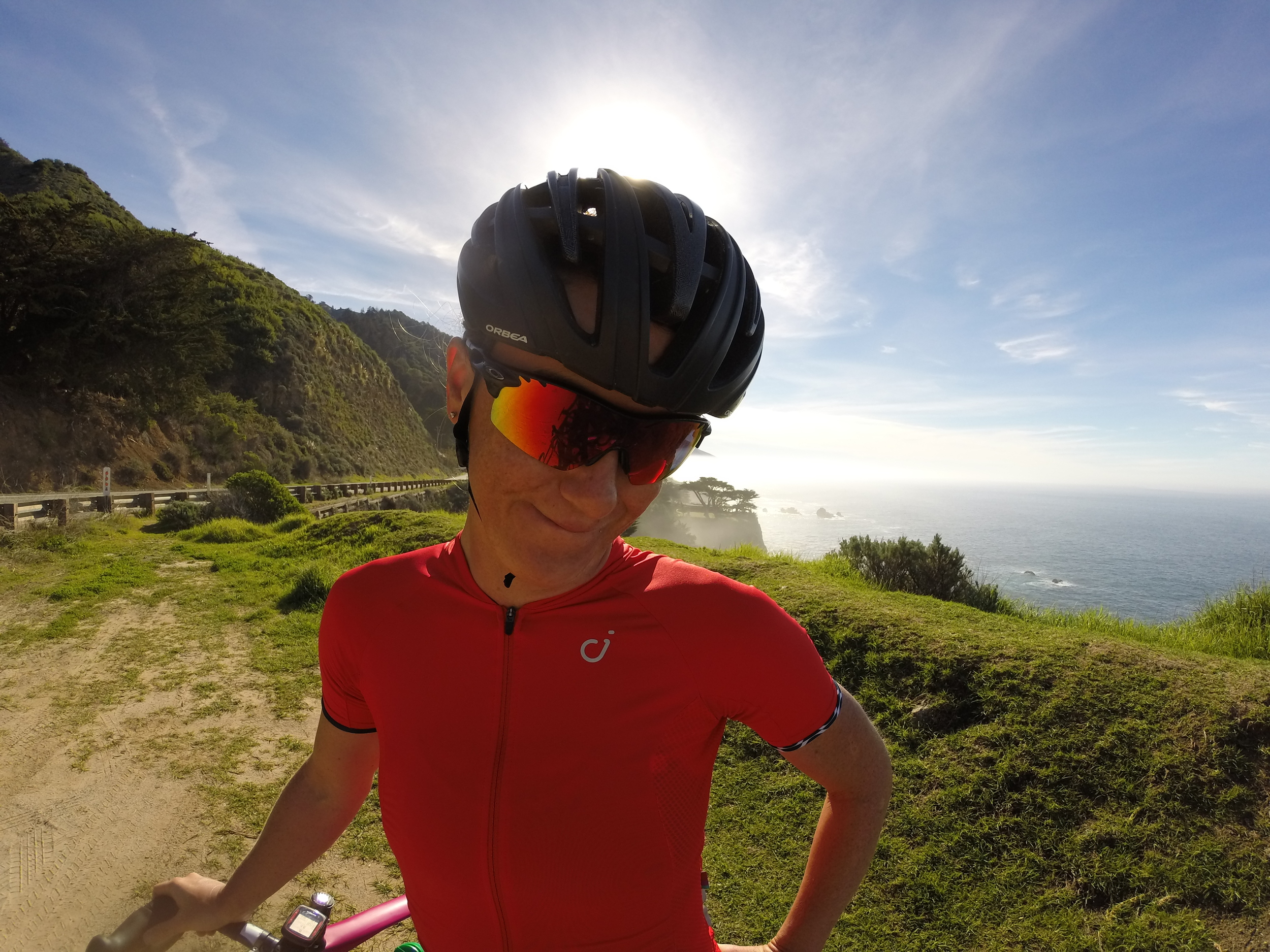 Look at the face, am I lucky or what!? Looking beautiful in the red classic jersey!:)