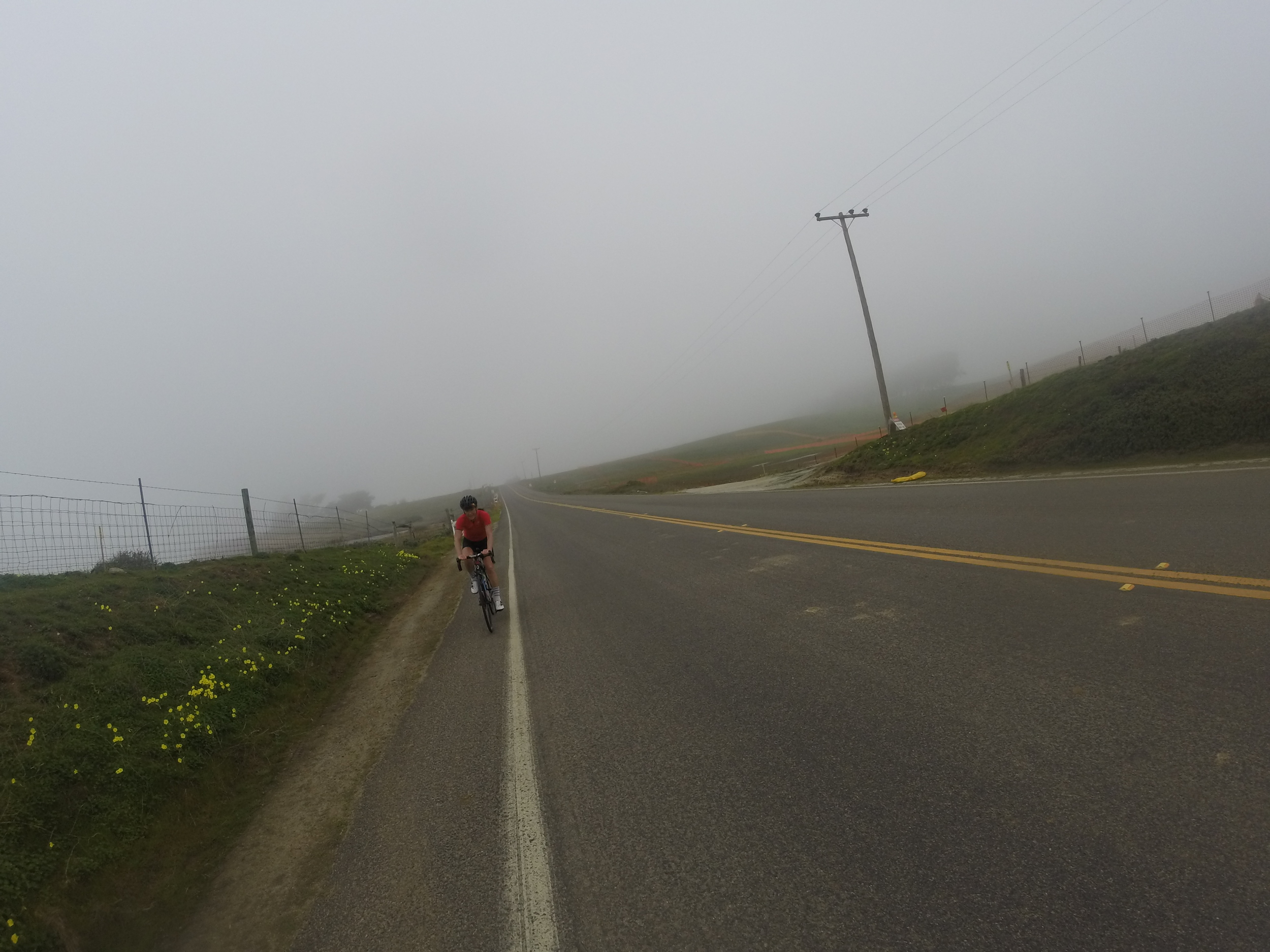 And then the fog hit!