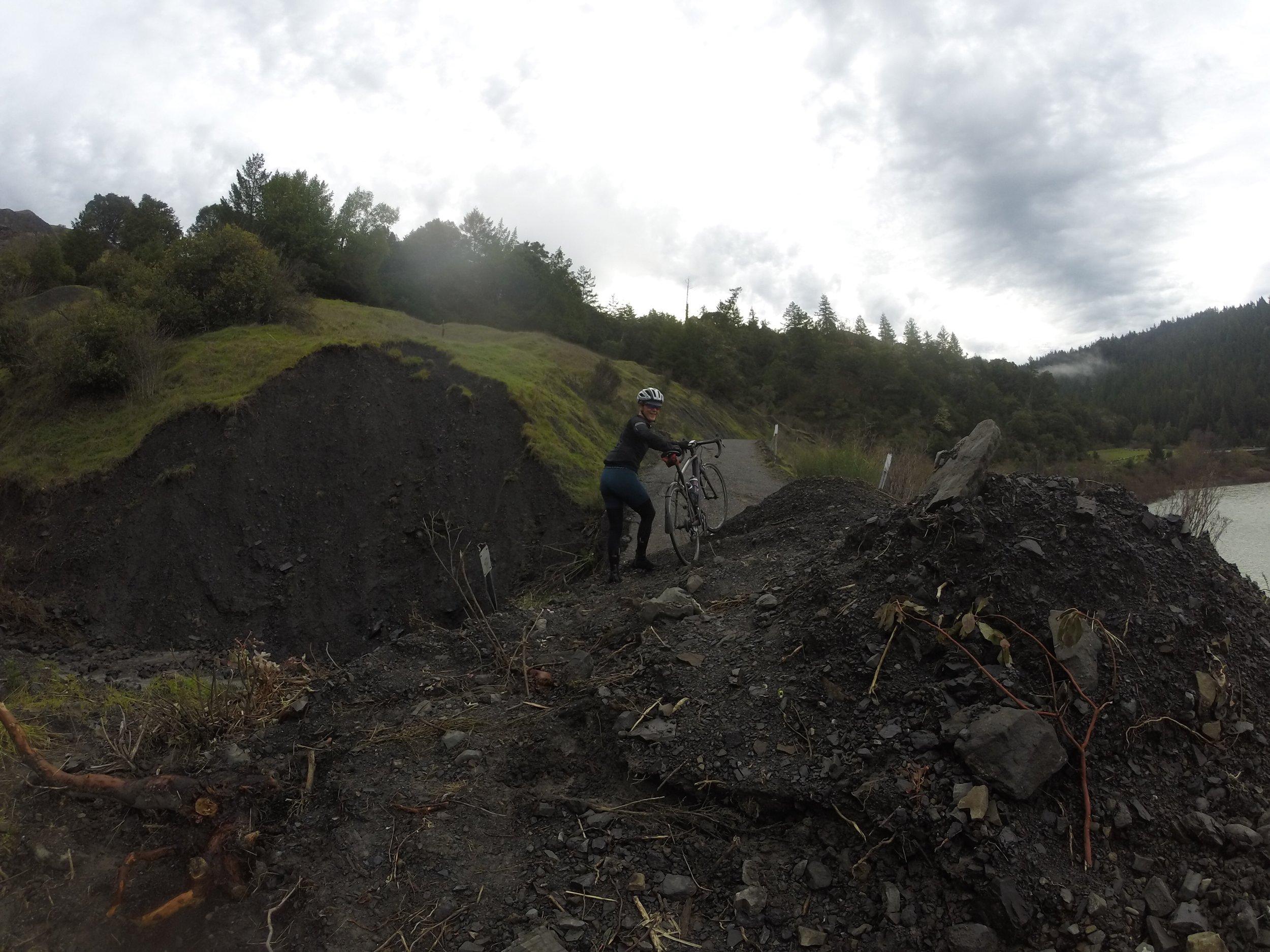 Landslides were not gonna stop us!