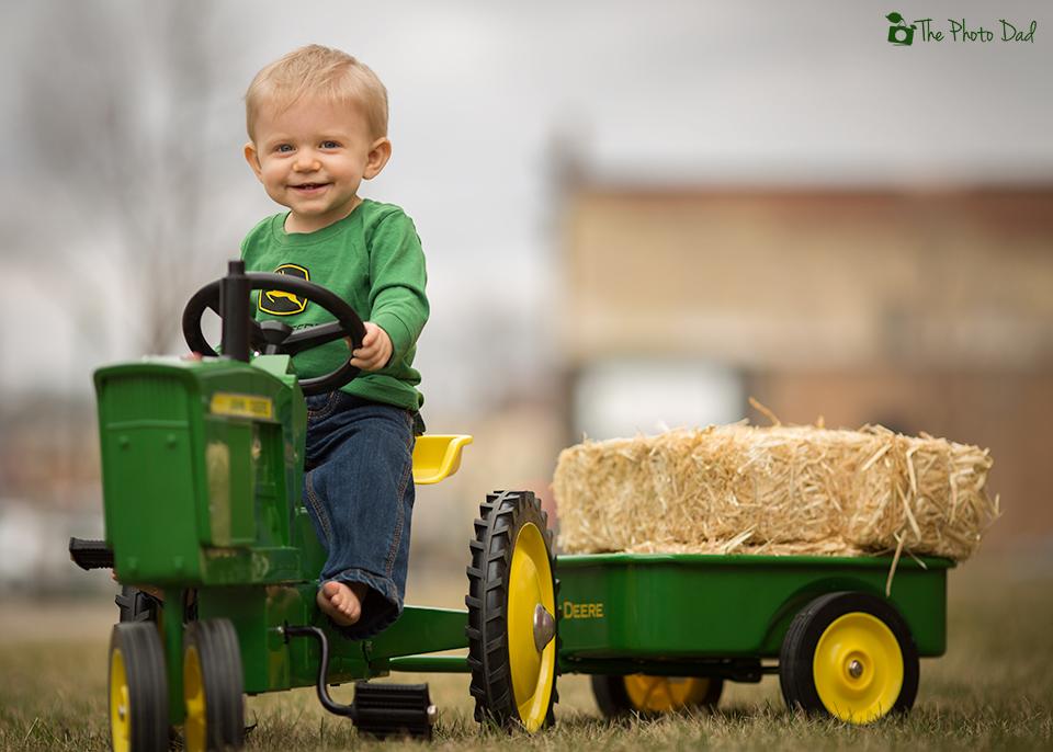 John Deere tractor ride - The Photo Dad - outdoor portraits