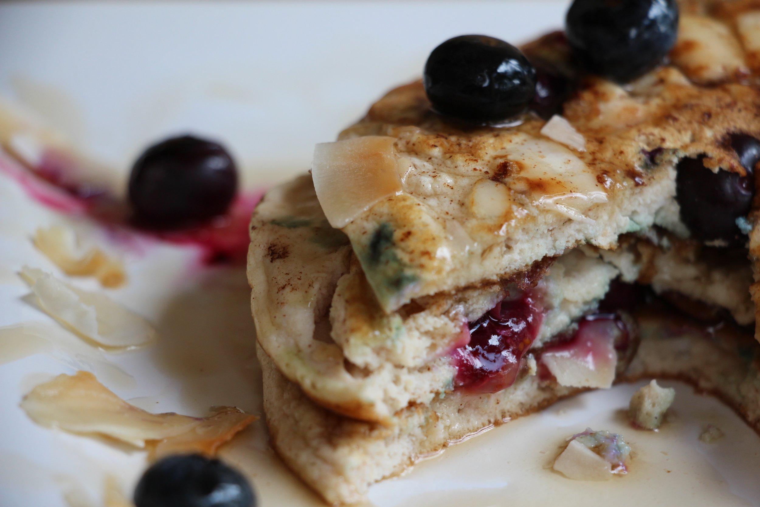 Grain-free blueberry pancakes