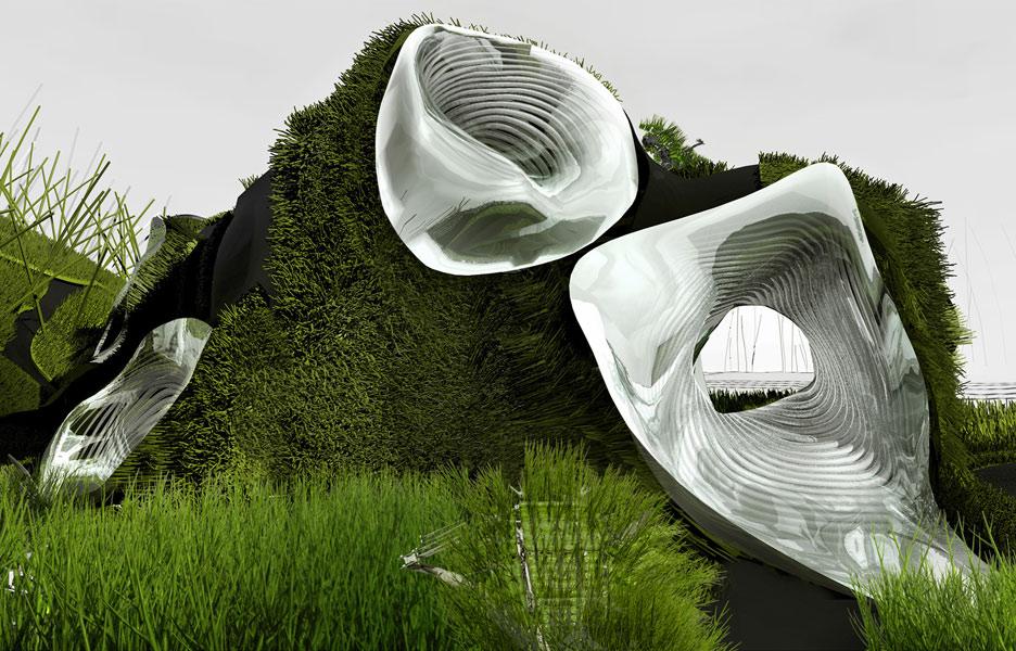 Bioconcrete assembly by Francois Roche