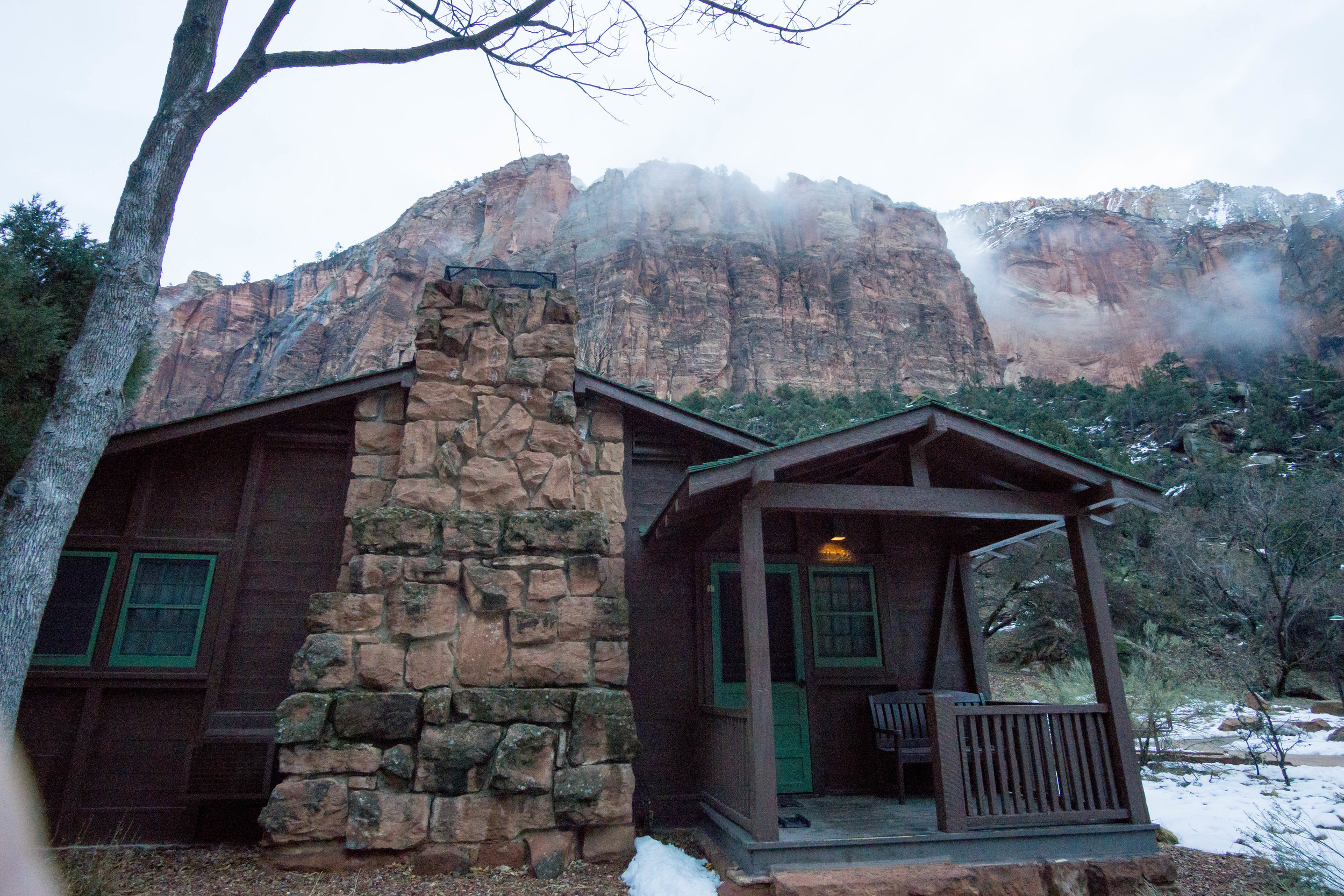 Our home away from home while on this trip. The cabin was super cozy and perfect to warm up in between trails.