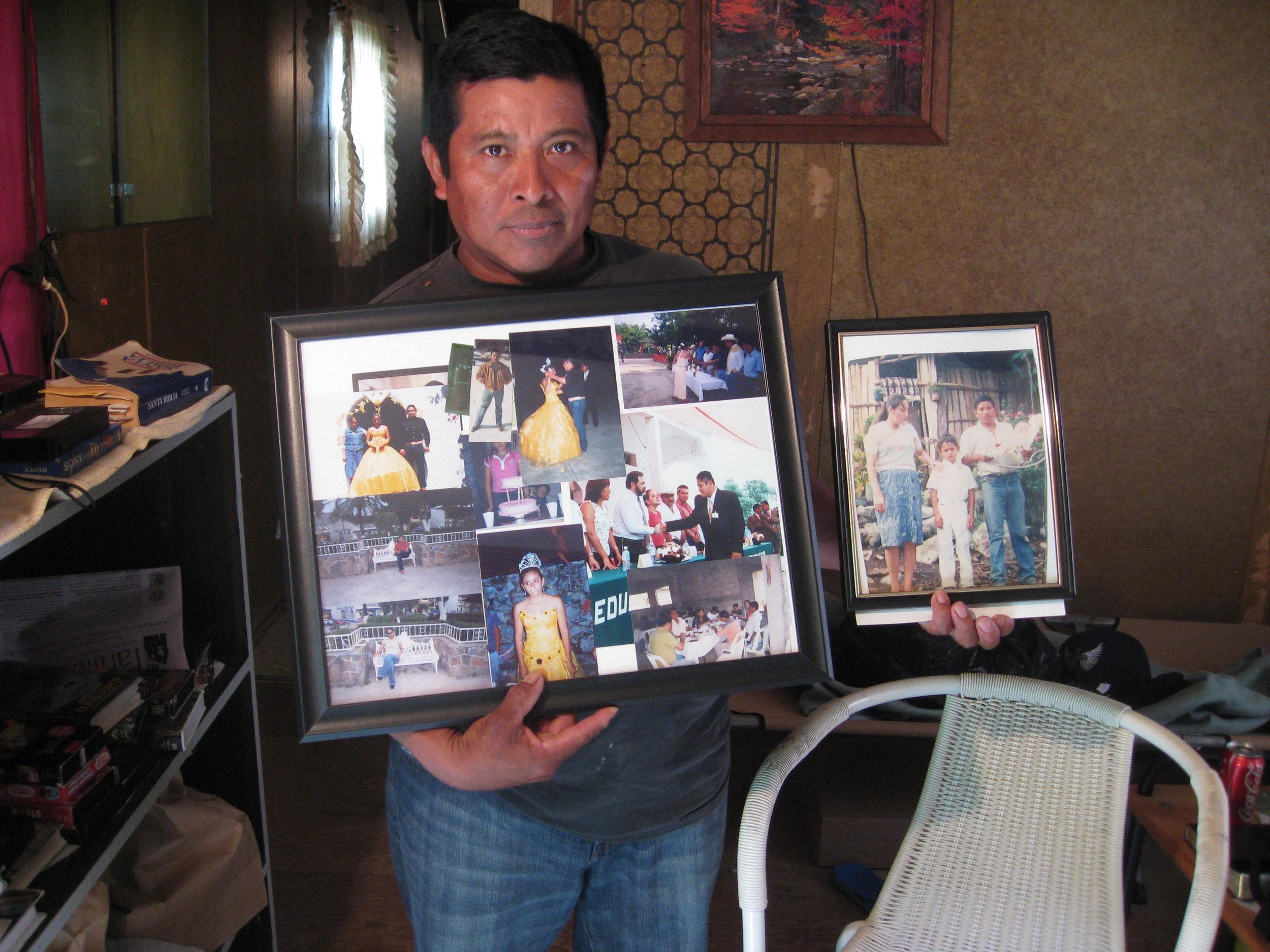 Juan who hasn't seen his family.
