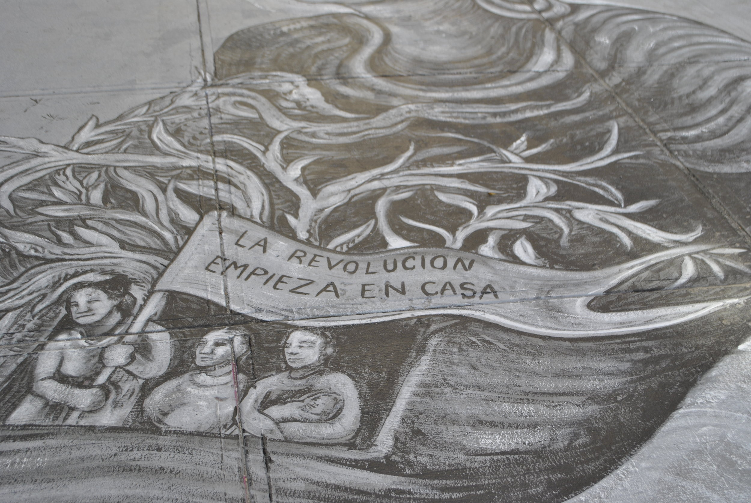 Photo of mural by Raul Ayala and Fernanda Espinosa