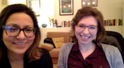 Oral historians Allison Corbett and Fanny Garcia.