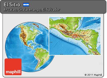 Map of Arcatao, Chalatenango, El Salvador.