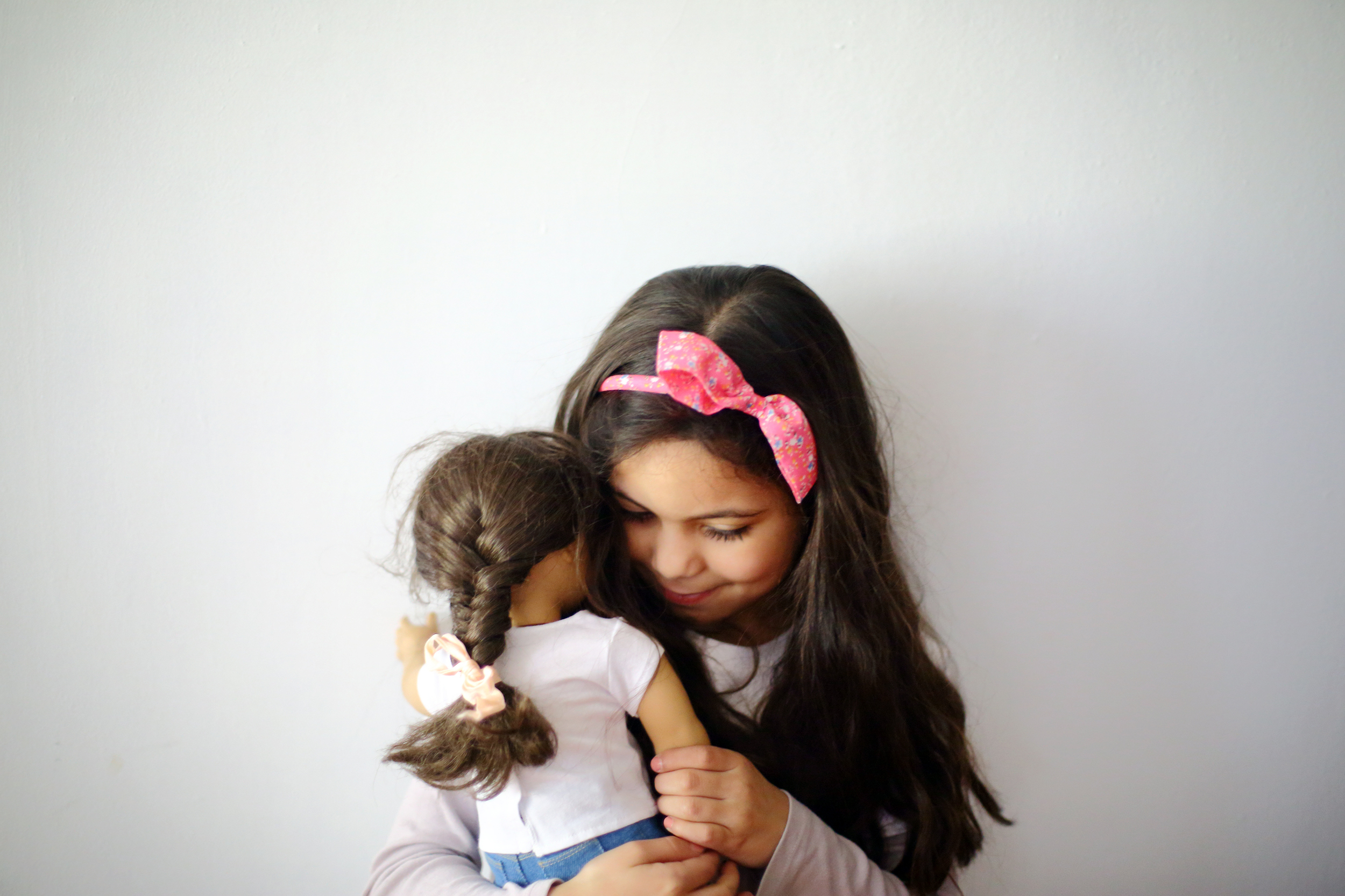 This weekend we went to the American Girl Doll Store in Chicago. Her doll Samantha became a better friend anda little bit more alive to her. It's magical to watch.