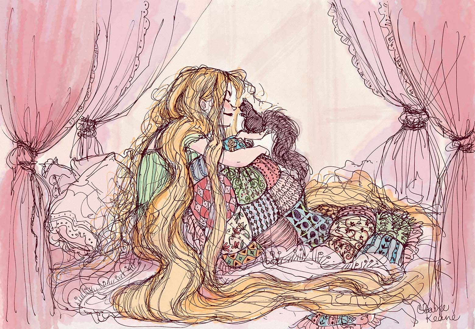 RAPUNZEL WAKING UP // VISUAL DEVELOPMENT FOR TANGLED