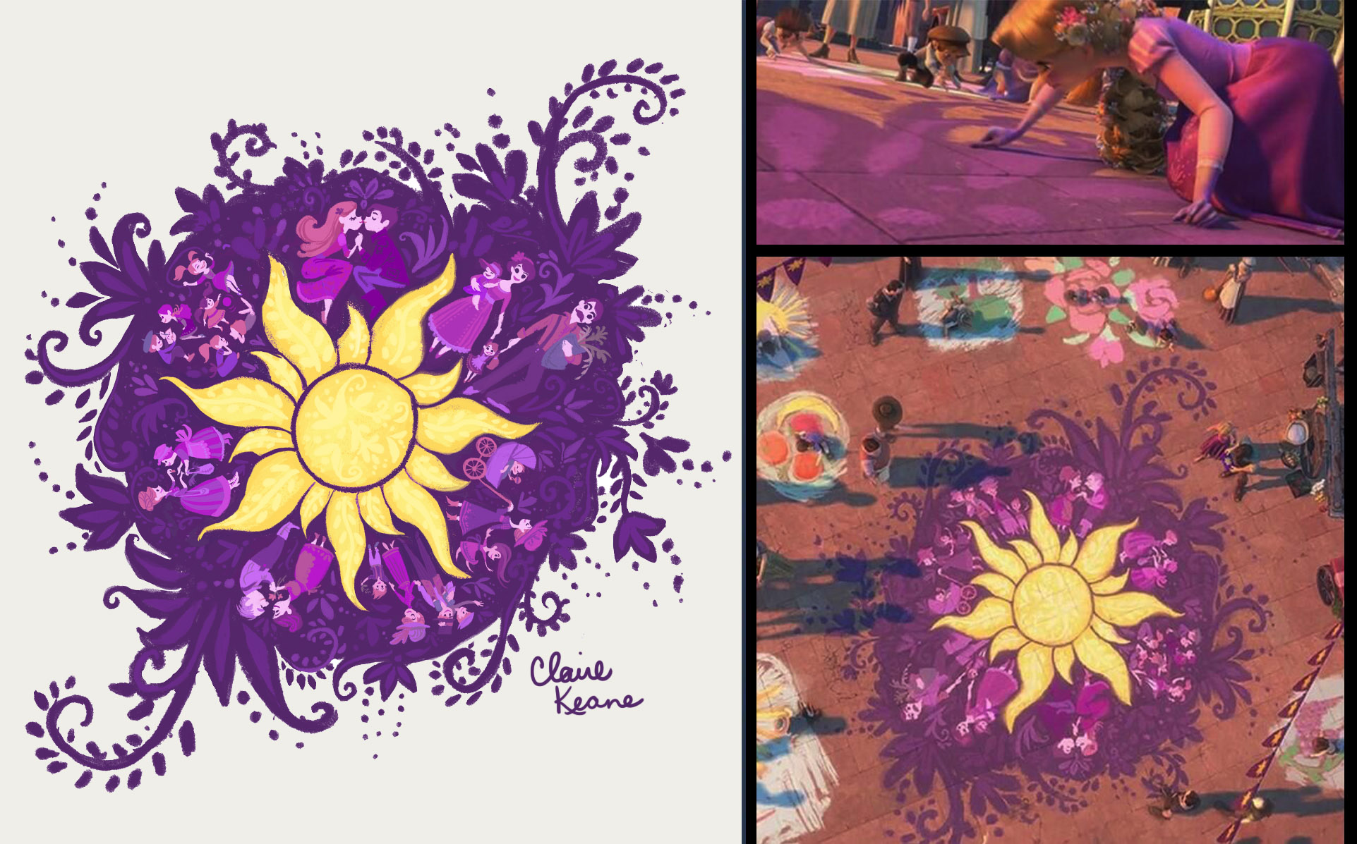 RAPUNZEL'S CHALK DESIGN // PRODUCTION DESIGN ELEMENT FOR TANGLED