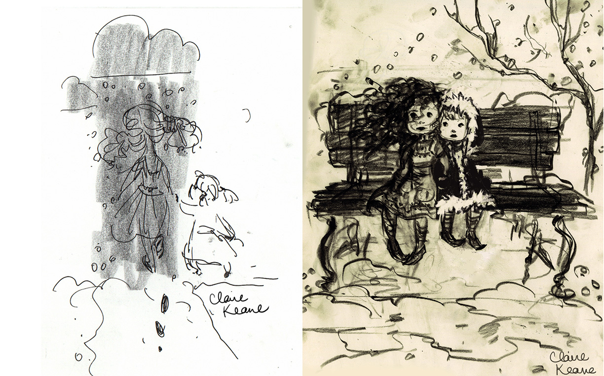 SISTERS, ANNA AND ELSA GROWING UP //VISUAL DEVELOPMENT FOR FROZEN