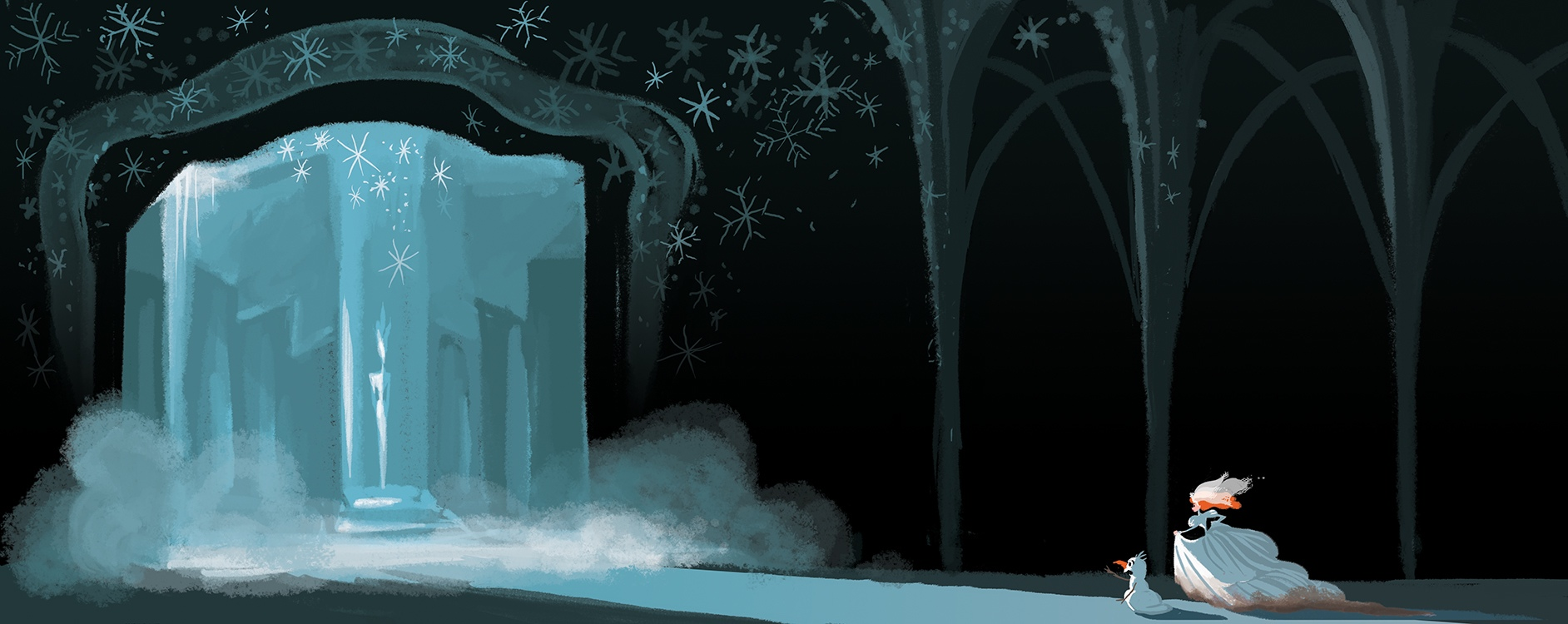 ANNA COMING TO RESCUE THE SNOW QUEEN // VISUAL DEVELOPMENT FOR FROZEN