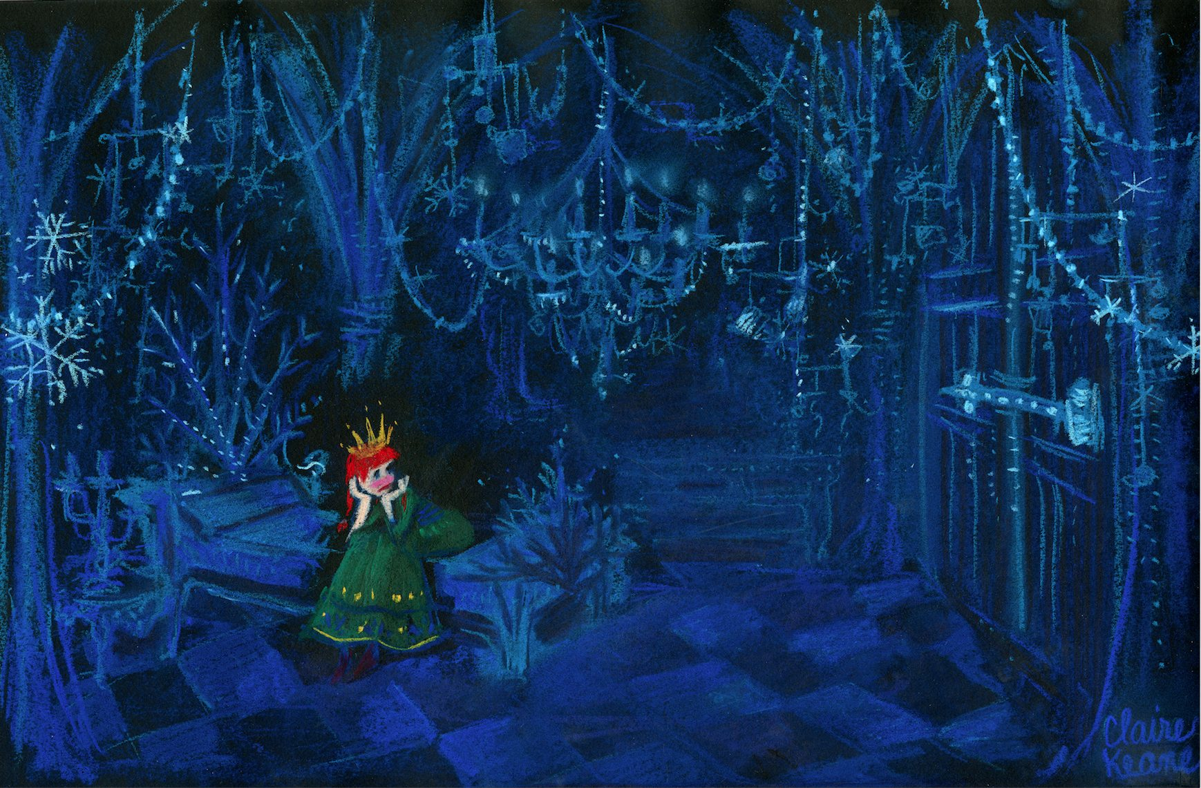 ANNA TRAPPED IN HER ICE BEDROOM / PRISON  VISUAL DEVELOPMENT FOR FROZEN